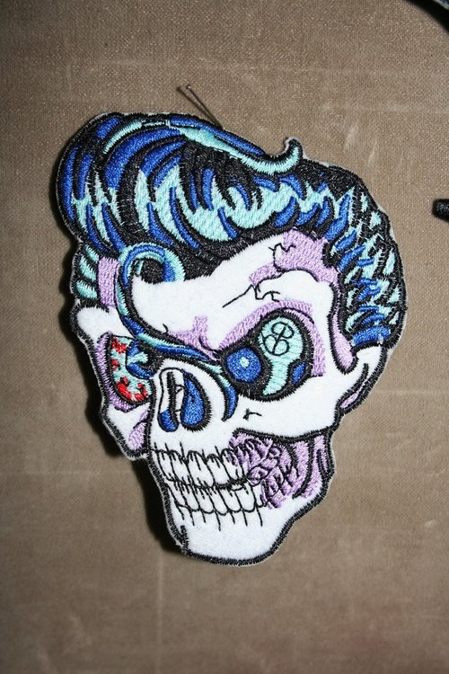 Rockabilly Skull Patch