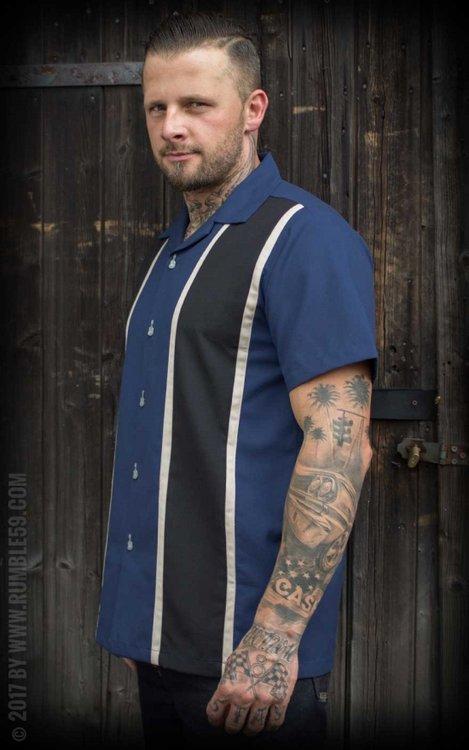 Classic Shirt Two Stripes - Moonlight Blue