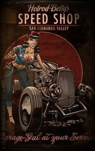 Poster - Hotrod Betty's Speed Shop